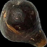 Antique Alabaster Stone Fruit Black Fig, Circa 1900