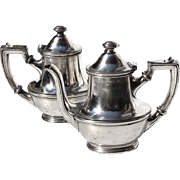 Pair Of Antique Hotel Silver Teapots From The Hotel Brighton In Paris