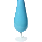 Vintage Mid-Century Modern French Opaline Glass Vase, Circa 1960