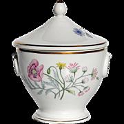 Vintage Signed Richard Ginori Floral Design Covered Handled Jar