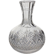 Antique Cut Crystal Wine Decanter Bottle, Circa 1900