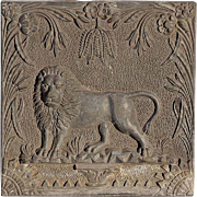 Early 19th Century English Lead Lion Plaque