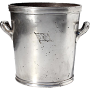 Early Vintage Hotel Silver Wine Champagne Cooler, Circa 1920
