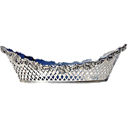 Early Vintage Pierced Silverplate Bread Basket, Circa 1930