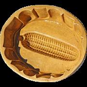 19th Century Yellow Ware Pottery Corn Mold