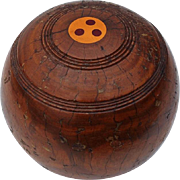 19th Century Wooden Carpet Ball, Circa 1890