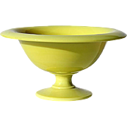 Antique French Yellow Opaline Pedistal Bowl, Circa 1910