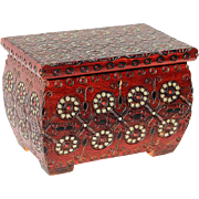 Vintage Hand-Decorated Lindenwood Box From Portland