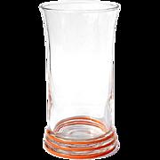 Vintage Mid-Century Modern Fiesta Glass Vase, Circa 1950
