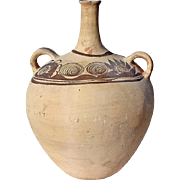 Large Greek Daunian Ware Pottery Two yHandle Vessel