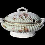 Large 19th Century C. Tielsch Co. German Porcelain Tureen,  Circa 1875