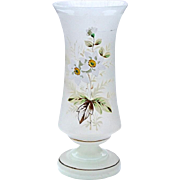 19th Century Victorian Hand-Blown Bristol Glass Vase