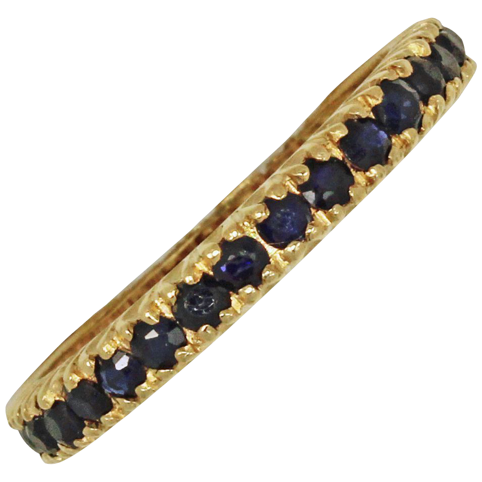 **SALE** A River of Sapphires: Sapphire Eternity Band 14kt Acid Tested