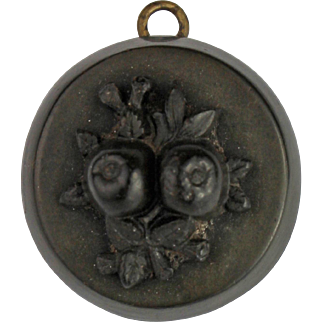 Antique Victorian Vulcanite Locket