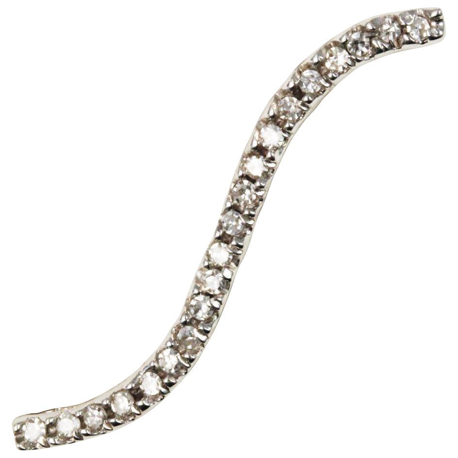 Diamond Wave 14kt White Gold Pendant