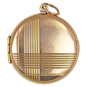 Art Deco 9kt Rose Gold Geometric Locket