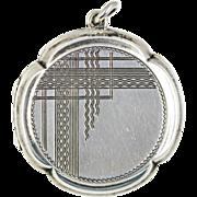 Art Deco Silver Geometric Locket