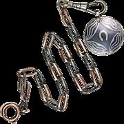 Victorian Niello Charm Bracelet