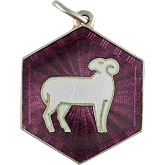 David Andersen Aries Zodiac Sign Sterling Silver Pendant or Charm