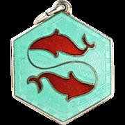 Vintage David Andersen Pisces Zodiac Sign Sterling Silver Pendant or Charm