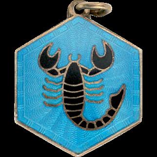 Vintage David Andersen Scorpio Sign Sterling Silver Pendant or Charm