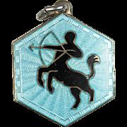 Vintage David Andersen Sagittarius Zodiac Sign Sterling Silver Pendant or Charm