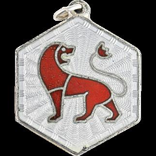 Vintage David Andersen Leo Zodiac Sign Sterling Silver Pendant or Charm