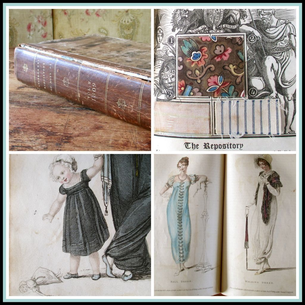 1st Edition 1809 Regency Ackermann's Repository Hand Colored