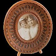 Lovely Carved 19C Small Easel Frame