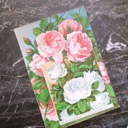 Original Victorian Martha Washington Roses Lithograph Seed Catalog