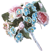 Vintage Silk and Velvet Floral Bouquet For Trim