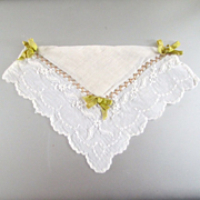Padded Embroidered Hanky Ribbons Wedding