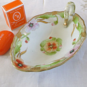 Lovely Nippon Handled Soap Dish With Vintage Nina Ricci Soap