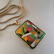 Art Deco Style Domed Pendant