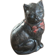 Early 1900's Cast Iron Black Cat Bank