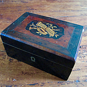 French Antique Inlaid Document Box From Chaumont NY