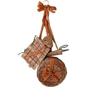 5 Piece Abenaki Or Shaker Sewing Chatelaine Set All Original