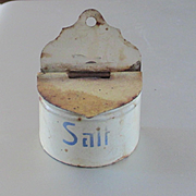 Marklin Germany Dollhouse Miniature Salt Box Blue Writing