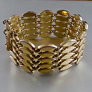 Mid Century Monet Wide Link Bracelet