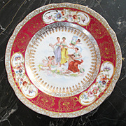 Carlsbad Victoria 1800's Cabinet Dessert Plate Cherubs For Valentine's Truffles Plate