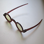 Old Celluloid Tortoise Glasses For Doll Or Teddy