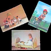 Vintage Unused 3 Kathe Kruse Postcards Germany