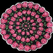 Prettiest Round Scalloped Hankie Roses