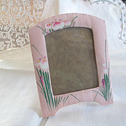 Exquisite Art Deco Little Hand Painted Frame Raw Silk