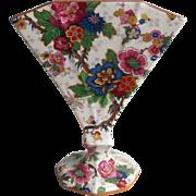 Crown Ducal Ware Chinese Lantern Chintz Fan Vase Rare