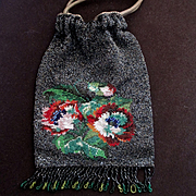 Lovely French Deco Petite Micro Beaded Purse