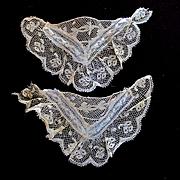Darling Bobbin Ayrshire Lace Pockets Matching High Neck Collar For Doll Dress