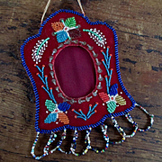 Lovely Iroquois Early 20th C Beaded Frame