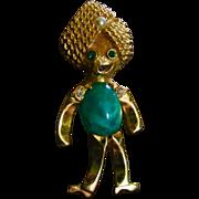 Kramer NY Figural Brooch Jelly Belly Genie Turban