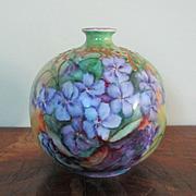 Luscious Violets Gilt Bud Vase Bavaria R.C.